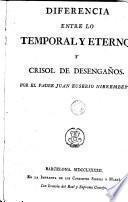 Diferencia entre lo temporal y eterno y crisol de desengaños