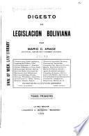 Digesto de legislación boliviana