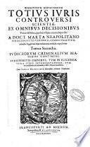 Digestorum nouissimorum totius iuris controuersi scientiae, ex omnibus decisionibus vniuersi orbis, quae hucusque extant, impressae