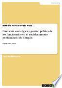 Dirección estratégica y gestión pública de los funcionarios en el establecimiento penitenciario de Carquín