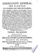 Dirección General de Cartas en forma de Diccionario