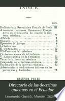 Directorio de las doctrinas quichuas en el Ecuador
