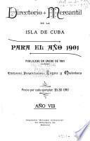 Directorio mercantil de la Isla de Cuba para el ano ... 18 -