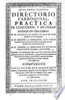 Directorio parroquial, practica de concursos y de curas
