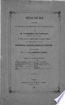 Discours prononcé au château de Miramar, le 3 octobre 1863, par M. Gutierrez de Estrada, président de la Députation mexicaine, en offrant, au nom de la Junte des notables, la couronne du Mexique à ... l'archiduc Maximilien d'Autriche, et réponse de ... l'archiduc ...