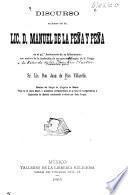 Discurso en honor del sr. lic. D. Manuel de la Peña y Peña