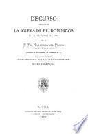 Discurso predicado en la Iglesia de PP. Dominicos el 24 de enero de 1886 por el P. Fr. Noberto del Prado