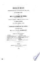 Discurso pronunciado en el palacio de Miramar el 3 de octubre de 1863