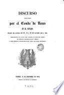 Discurso pronunciado por el conde de Reus en el Senado durante las sesiones del 10, 11 y 12 del corriente mes y año...