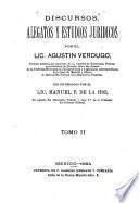 Discursos alegatos y estudios jurídicos