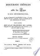 Discursos críticos sobre las leyes y sus intérpretes, 1