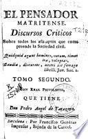 Discursos críticos, sobre todos los asumptos que componen la sociedad civil