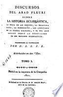 Discursos del abad Fleuri sobre la historia eclesiastica, 1