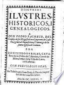 Discursos ilustres, historicos i genealogicos