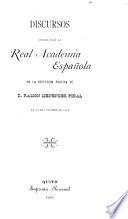 Discursos leídos ante la Real Academia Española en la recepción pública de d. Ramón Menéndez Pidal