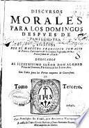 Discursos morales para los domingos despues de Pentecostes