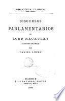 Discursos parlamentarios