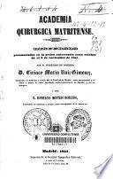 Discursos pronunciados en la sesión, aniversario sesto, celebrada el 9 de noviembre de 1851