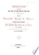Discursos y poesías leídos el día 25 de mayo de 1881 en el paraninfo de la Universidad Literaria de Salamance en honor del insigne poeta dramático don Pedro Calderón de la Barca con ocasión del segundo centenario de su muerte
