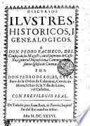 DISCVRSOS ILVSTRES, HISTORICOS, I GENEALOGICOS