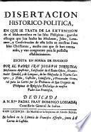 Disertacion historico-politica, en que se trata de la extension de el Mahometismo en las Islas Filipinas ...