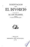 Disertación sobre el divorcio