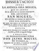 Disertacion sobre la antigua obra mosaica que se admira en el suelo de la Iglesia de San Miguel