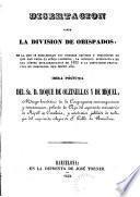 Disertación sobre la división de obispados...