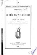 Disertación sobre la división del poder público