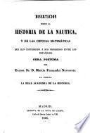 Disertacion sobre la historia de la náutica