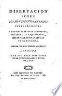 Disertacion sobre los monumentos ant ... en Barcelona