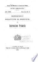 Disposiciones relativas al servico de instrucción primaria