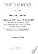 División del territorio de la Península é Islas Baleares y Canarias en distritos electorales para diputados á Cortes