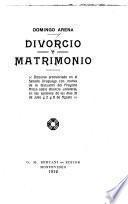Divorcio y matrimonio