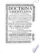 Doctrina christiana en lengva chinanteca, añadida la explicacion de los principales mysterios de la fee