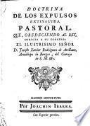 Doctrina de los Expulsos extinguida Pastoral
