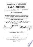 Doctrinas y sermones para la Misión ...