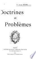 Doctrines et problèmes