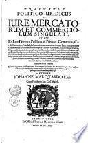 Documenta commercalia, Sive tractatus de jure mercatorum et commerciorum singulari