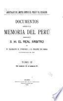 Documentos anexos á la Memoria del Perú