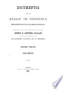 Documentos para los anales de Venezuela