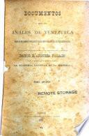 Documentos para los anales de Venezuela: Primero período, 1829-1830