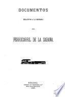 Documentos relativos a la empresa del Ferrocarril de la Sabana