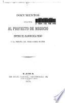 Documentos relativos al proyecto de negocio entre el Banco del Perú y la Compañía del Ferrocarril de Eten