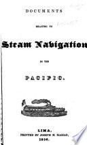Documents relating to steam navigation in the Pacific