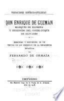 Don Enrique de Guzmán, Marqués de Mairena y heredero del Conde-duque de Olivares