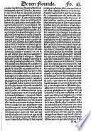 Don Florando, Comiença la coronica del valiente y esforçado pri[n]cipe do[n] Flora[n]do d[e] Inglatierra hijo d[e]l noble y esforçado pri[n]cipe Paladiano ...