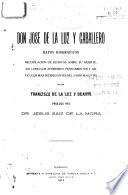 Don José de la Luz y Caballero
