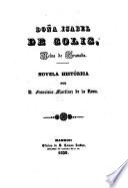 Dona Isabel de Solis, Reina de Granada. Novela historica