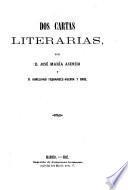 Dos cartas literarias